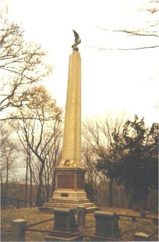 Burying Ground Capt. John Monument dedicated by Teddy Roosevelt